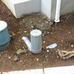 【カーポート設置できない?】雨水管と汚水管の位置は非常に大事!